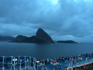 Sugar loaf mountain leaving Rio.