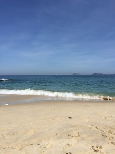 Ipanema Beach outside our hotel in Rio.