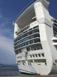 The back end of the Golden Princess. We couldn't really get the whole boat in one picture.