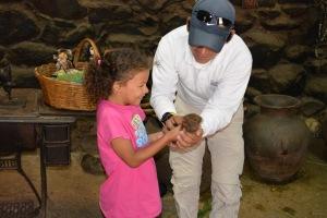 Bella holding a Guinea Pig